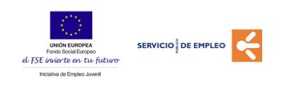 Logos Unión europea y Servicio de empleo