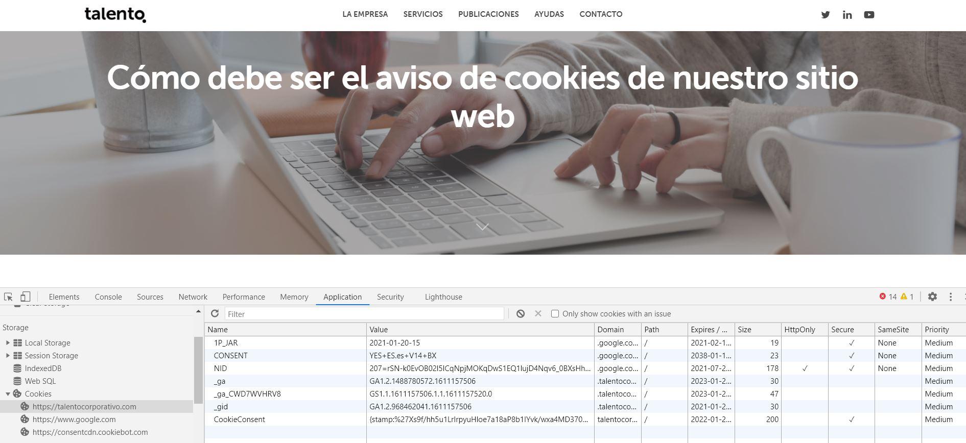 ejemplo cookies